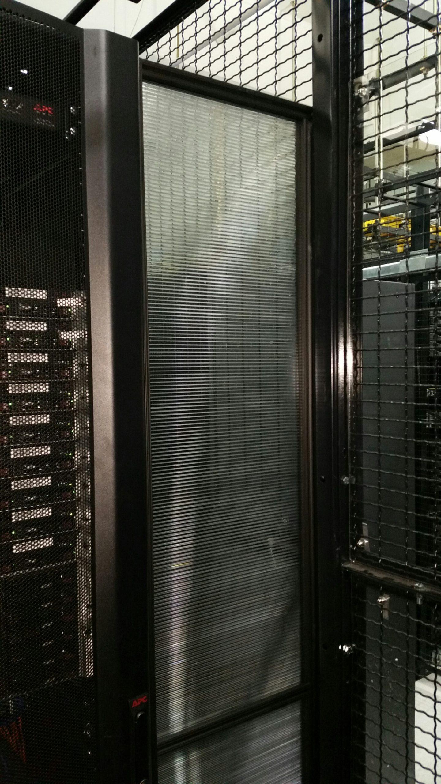 data center aisle end barrier