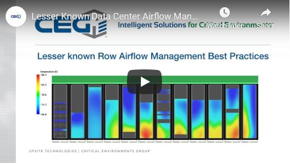 Vlog-Lesser Known Airflow Management Best Practices