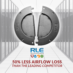New Tech News – RLE Technologies Grommet for Data Center Raised Floors