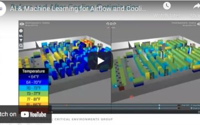 CEG Vlog – AI & Machine Learning for Data Center Airflow and Cooling Optimization