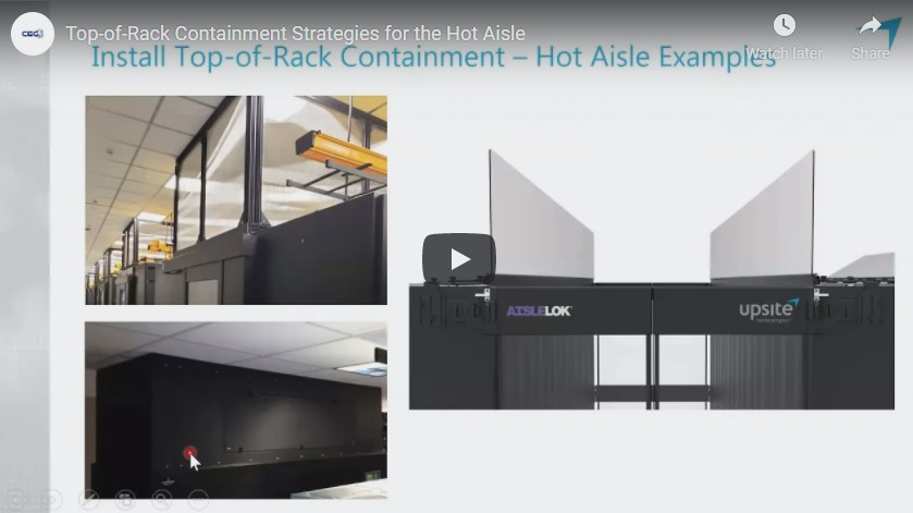 CEG Vlog – Top-of-Rack Containment Strategies for the Hot Aisle
