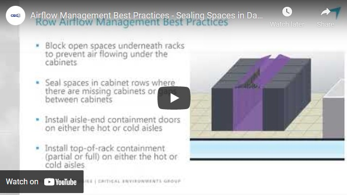 Vlog – The Importance of Sealing Spaces in Data Center Retrofits